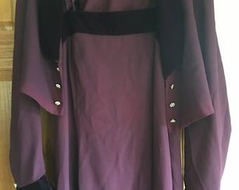 Long plum vintage dress