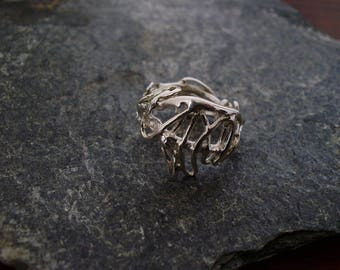 Ring silver Sterling scribbles