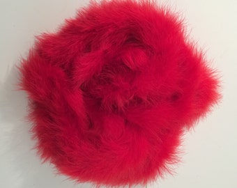 2 RED Marabou Feather Boa Heavyweight 6 foot