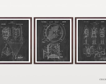 Skydiving Patent Collection - Skydiving Art - Skydiving Poster - Skydiver - Parachute Patent - Parachute Art - Extreme Sports - Parachute