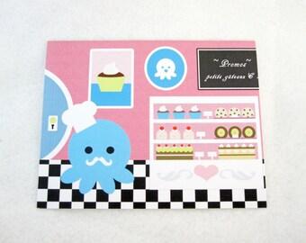 Blank Octopus Bakery  Note Card
