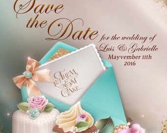 Save The Date, Teal Save the Date, Wedding