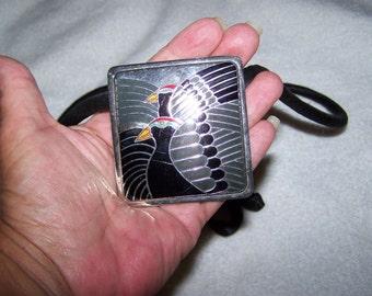 RARE Moon Doves Laurel Burch Slide Necklace