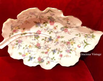 Beautiful Floral Serving Platter - Free Shipping