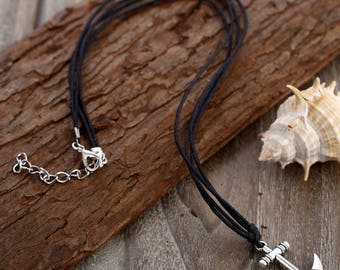 Anchor Necklace // Rope Necklace // String Necklace // Nautical Necklace // Sailing Necklace // Sailor Necklace // Dainty Necklace