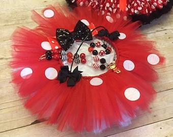 Minnie Mouse Basket, Flower girl basket, tutu basket, wedding basket, easter basket, girls easter basket, easter basket gifts, easter gift