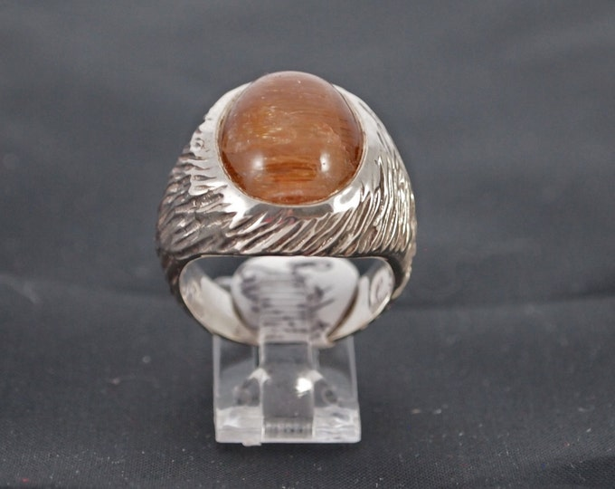 Rutilated Quartz and Sterling Silver Ring