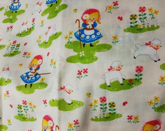 Japanese Cotton Fabric Mary Had A Little Lamb Little Bo Peep Fairy Tales 4 to choose