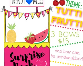 February Surprise Pack- TuTTi FruTTi Bows