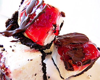 Julie's Fudge - Chocolate Covered Cherry CHEESECAKE With Oreo Cookie Crust - Over Half Pound