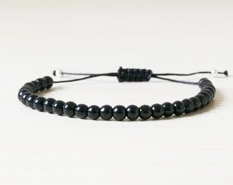 Black spinel bracelet, black spinel, black spinel jewelry, natural stone, black bracelet, everyday bracelet, spinel, minimalist, delicate