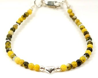 Yellow Tuquoise and Sterling Silver Bracelet