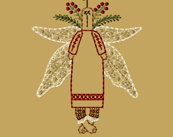 MACHINE EMBROIDERY-Morgan-Angel-4x4-Colorwork-Instant Download