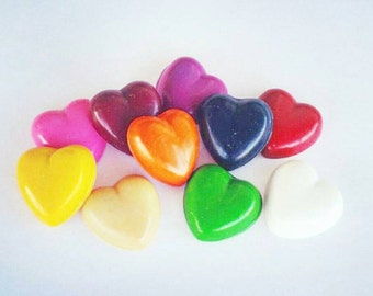 Heart Crayons, Valentines Crayons, Valentines Party, Kids Valentines, Party Favors, Class Party, Candy Alternative, Hearts, Pink, Red, Love