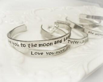 Custom Hand Stamped Bracelet, Personalized, Friend Bracelet, Special Gift, Personalized Bracelet, Custom Bracelet, Mantra Jewelry, Yoga