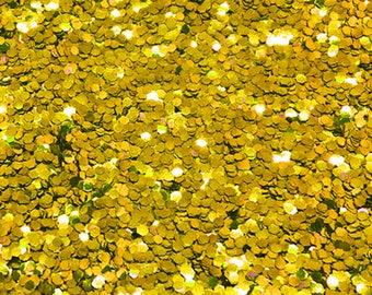 GOLD BIO GLITTER - Chunky -Biodegradable Glitter - Festival Glitter - Eco Friendly - Mermaid Glitter - Cosmetic Grade - 1000 microns