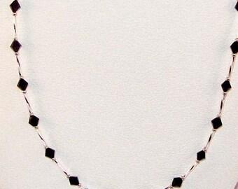 Swarovski Black Diamond Crystal Necklace