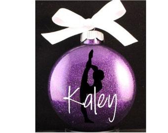 Gymnastics Christmas Ornament with Year, Gymnast Ornament