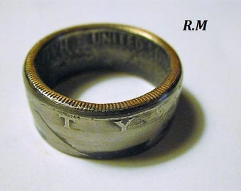 JF Kennedy Half Dollar Coin Ring