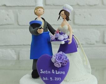 Chef couple custom wedding cake topper decoration gift