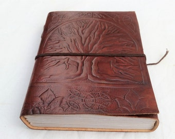 Tree of Life Leather Journal, Refillable Journal, Leather Journal, Notebook, Diary, Sketchbook, Diary.