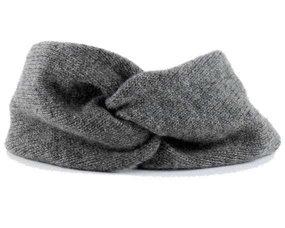 Gray Knit Headband