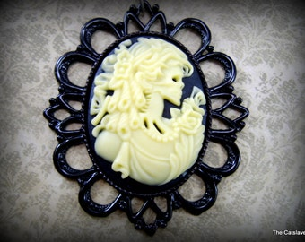 Gothic Cameo Lolita/Day of the Dead Necklace