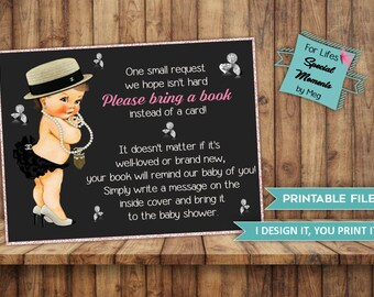 Coco Chanel Books for Baby Tickets Instant Download- Made to Match Coco Chanel Baby Shower Invitation