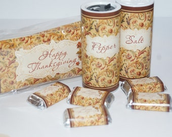 Thanksgiving Guest Favors, friendsgiving Guest Gift,  falliday Host Gift Set, Personalized Thanksgiving Gift Set.Thanksgiving table favors