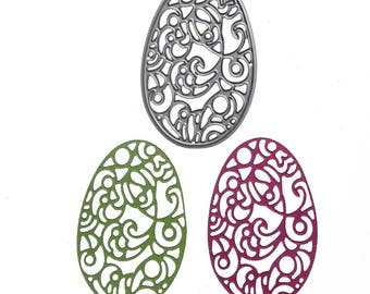 Cutout tag lace Easter egg
