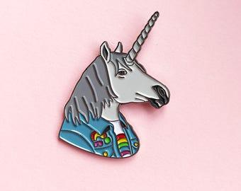 Enamel Pin - Unicorn Pin - Ryan Berkley Illustration - Pin - Unicorns - Rainbows