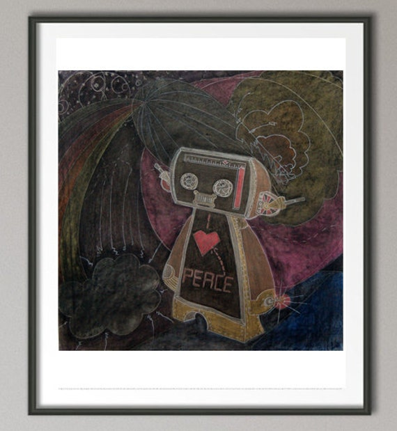 "Drawing - ""Peace Robot"""