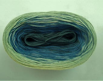 BROOK II --mega--  Color Changing Cotton yarn  865 yards/180 gr  Fingering Weight