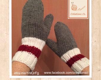 Child mittens pattern low wool / Kid Wool Sock Mittens