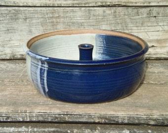 Bundt Stoneware Cake Pan, Hand Thrown Pottery, Ceramic, Cake Baking Pan, Fruit Bowl, Kitchen Baking Dish,  Bundt Mold, Jell-O Mould, Chips