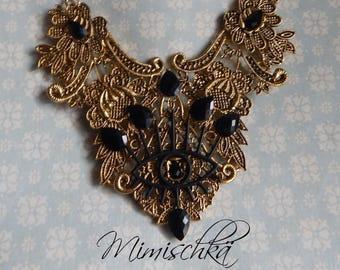 Necklace  gothic mystic eye choker