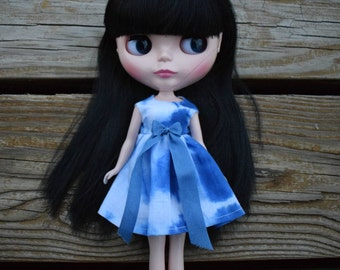 Blue Tie Dye Blythe Dress