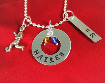 Personalized Soccer Necklace or Keychain , Personalized Soccer Gifts, Soccer Team Gifts, Soccer Player Gift, Soccer Necklace