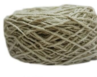 Mulberry Spun Silk Yarn 4 NM Natural Colour(100 Grams)