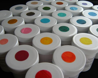 Marbling Paint 3 fl. oz. Jars COMPLETE SET - Acrylic 30 Jars DIY Marbleizing Paper Fabric Marbling With Instructions