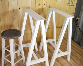 Metal Bar Table Legs, Trestle Style Table Legs, Aluminum.