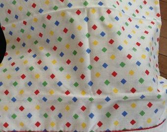 HERITAGE 1980's Vintage Checkered Pillowcase pair