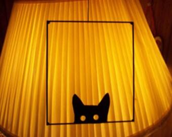 Wireart Peeking Cat