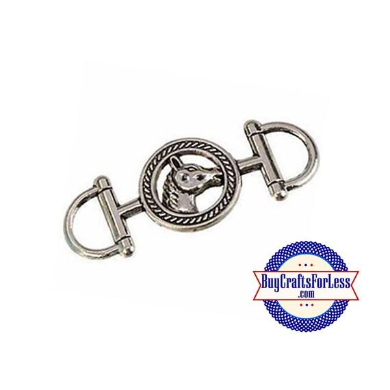 COWBOY HORSE Connector Charm, 2 pcs +99cent SHiPPING & Discounts