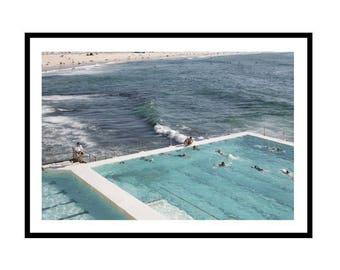 Bondi Icebergs Print, Bondi Print, Bondi Pool Print, Bondi Photography Print, Icebergs Print, Pool Meets Ocean  Print, Ocean Print