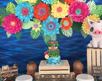 Tropical Paper Flower Backdrop (customize the size, color and quantity)