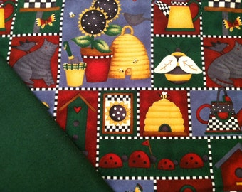 Flannel Baby Blanket / Kid Car Blanket - Bees-a-Buzzing, Personalization Available
