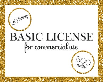 Basic License for Commercial Use No-Cretid Digital Paper Packs Graphic Design Discount Package