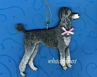 Custom Handpainted Poodle Christmas Ornament