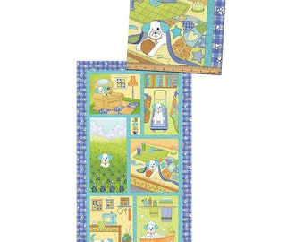 Joey The Shop Dog Panel 23In X 44 In ~Chldren'S Cotton Fabric By Bennartex